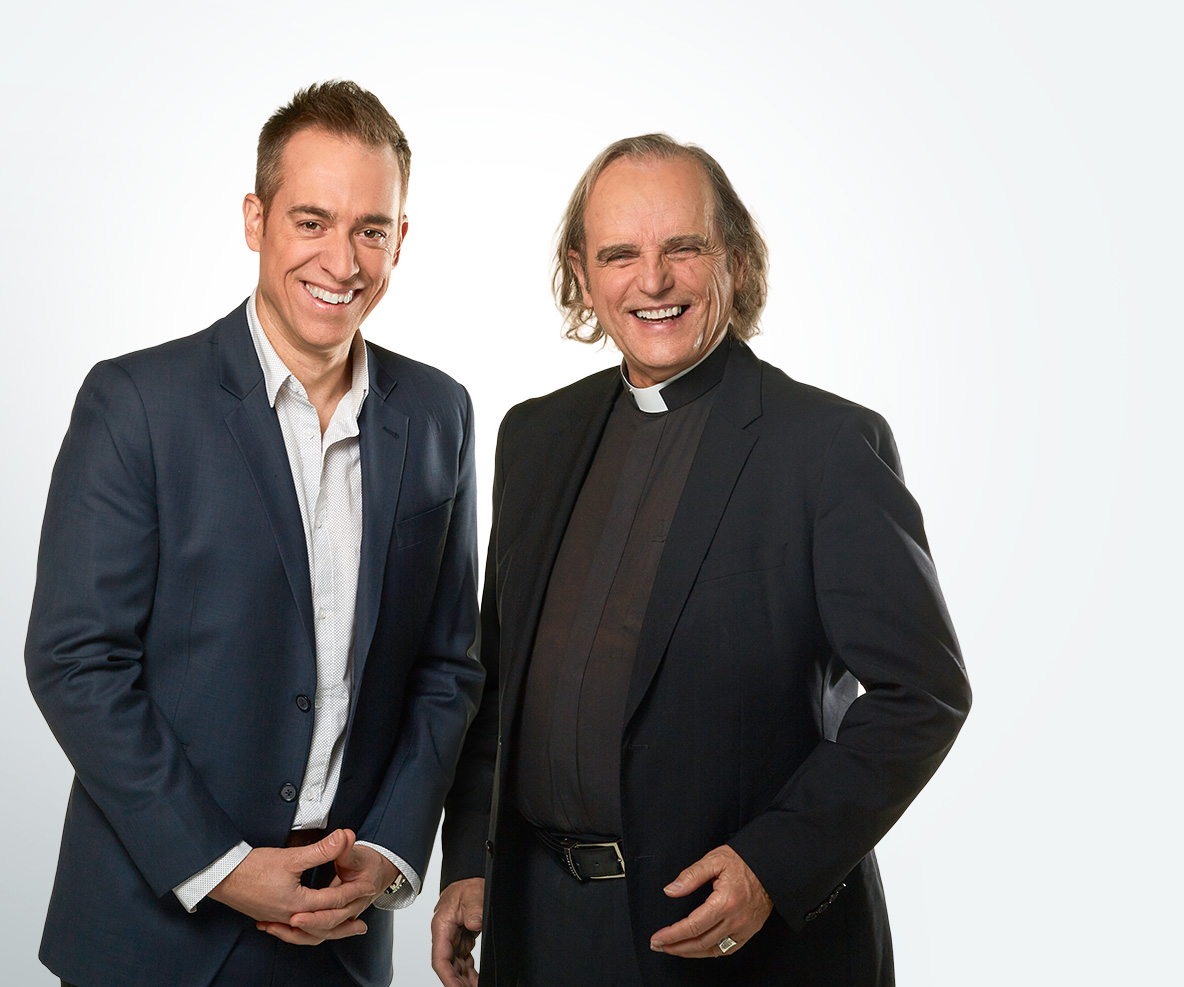 Pierre-Luc Bordeleau et l'abbé Donald Thompson